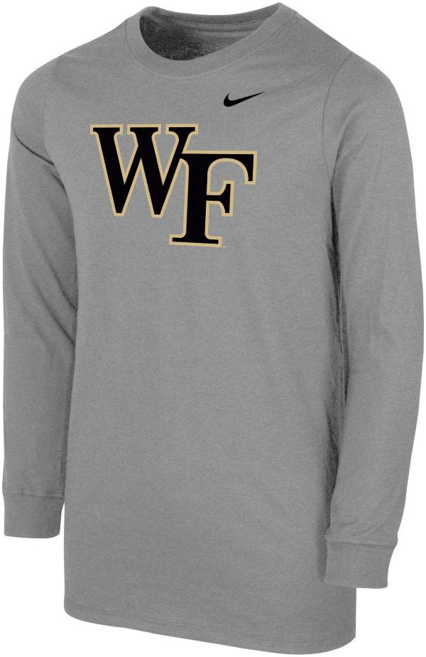 Nike Youth Wake Forest Demon Deacons Grey Core Cotton Long Sleeve T-Shirt product image