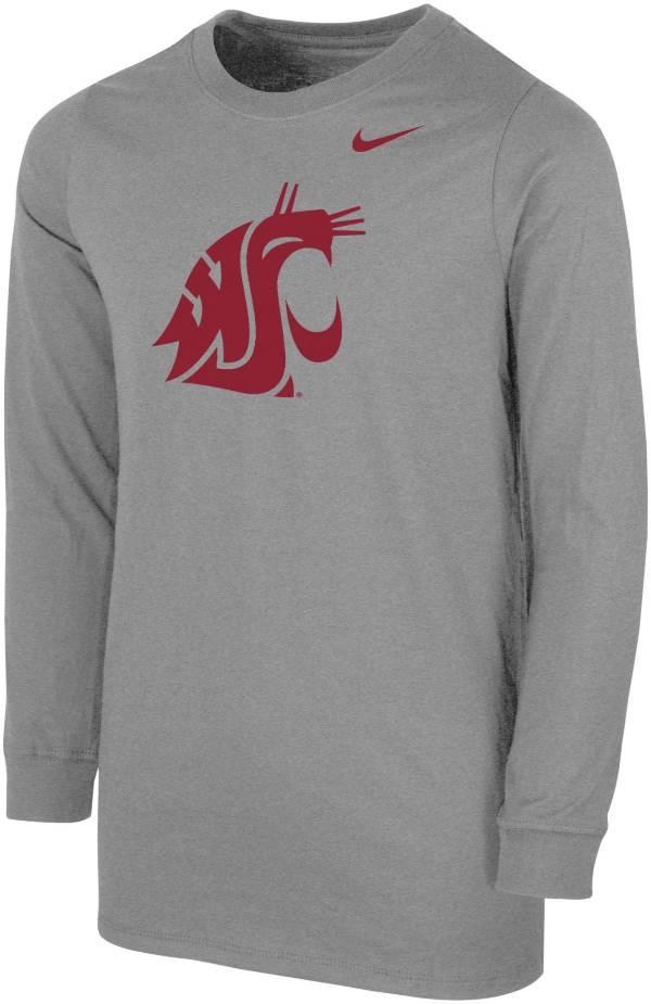 Nike Youth Washington State Cougars Grey Core Cotton Long Sleeve T-Shirt product image