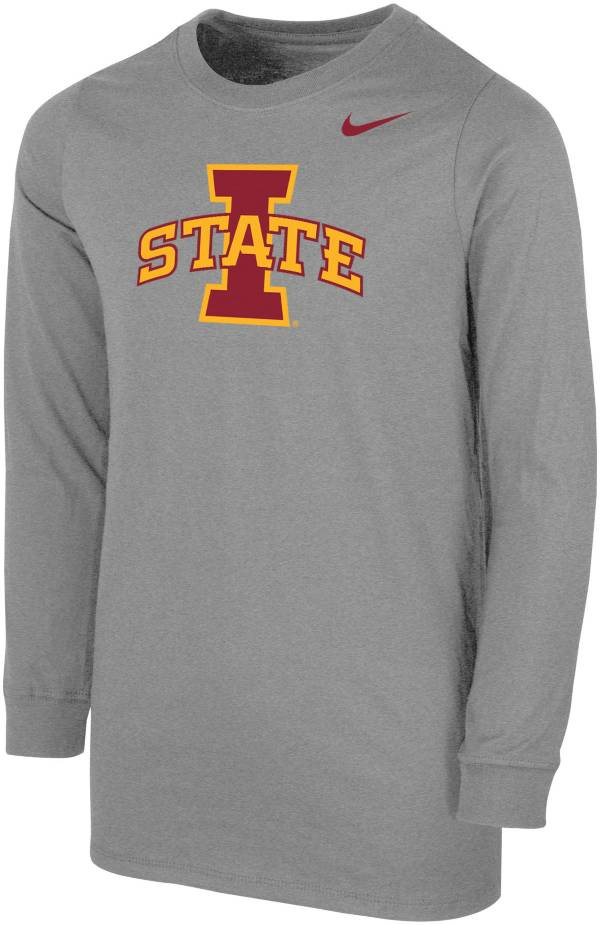 Nike Youth Iowa State Cyclones Grey Core Cotton Long Sleeve T-Shirt product image