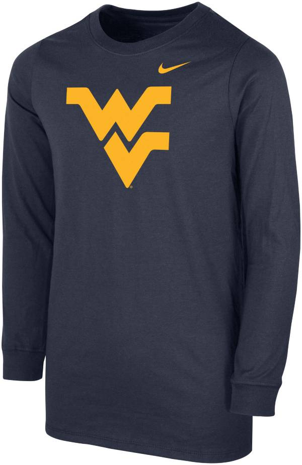 Nike Youth West Virginia Mountaineers Blue Core Cotton Long Sleeve T-Shirt product image