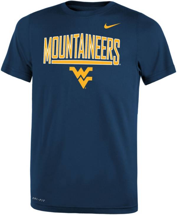 Nike Youth West Virginia Mountaineers Blue Dri-FIT Legend T-Shirt product image