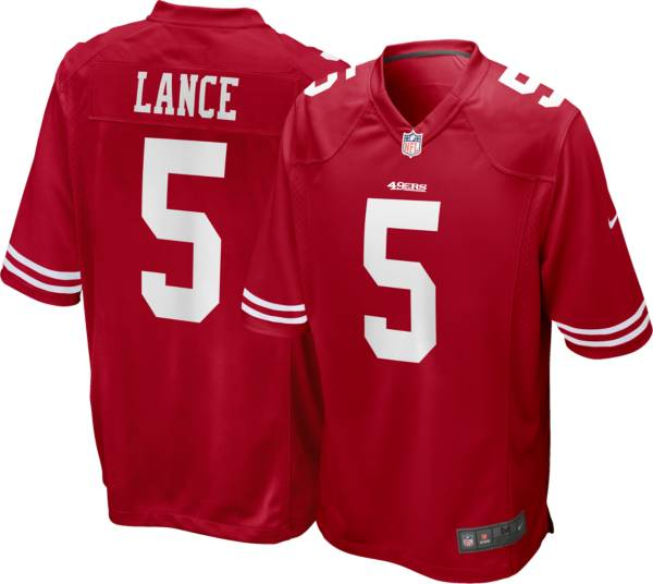 Nike Youth San Francisco 49ers Trey Lance #5 Red Game Jersey product image