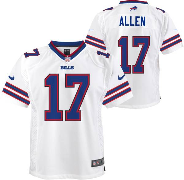 Nike Youth Buffalo Bills Josh Allen #17 White Game Jersey product image
