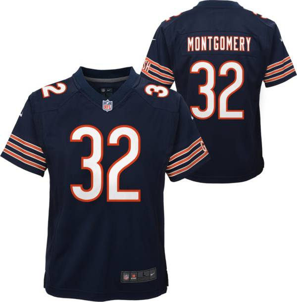 Nike Youth Chicago Bears David Montgomery #32 Navy Game Jersey product image