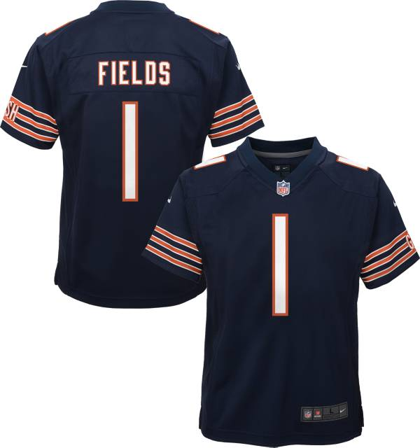 Nike Youth Chicago Bears Justin Fields #1 Navy Game Jersey product image