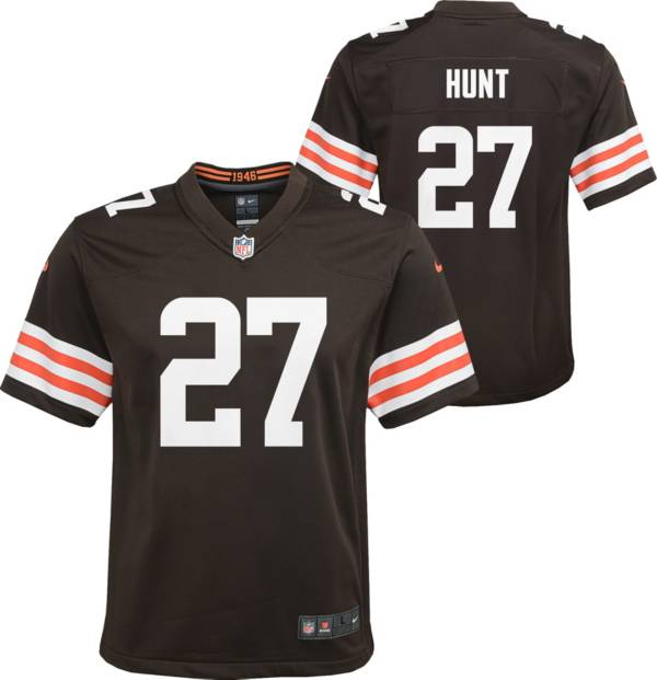 Nike Youth Cleveland Browns Kareem Hunt #27 Brown Game Jersey product image