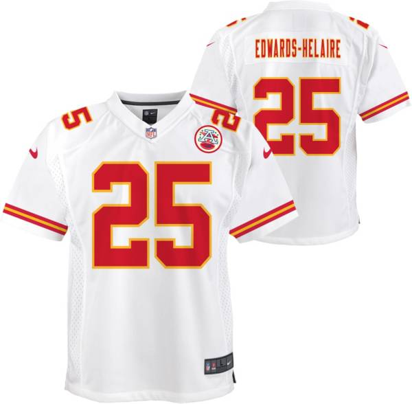 Nike Youth Kansas City Chiefs Clyde Edwards-Helaire #25 White Game Jersey product image