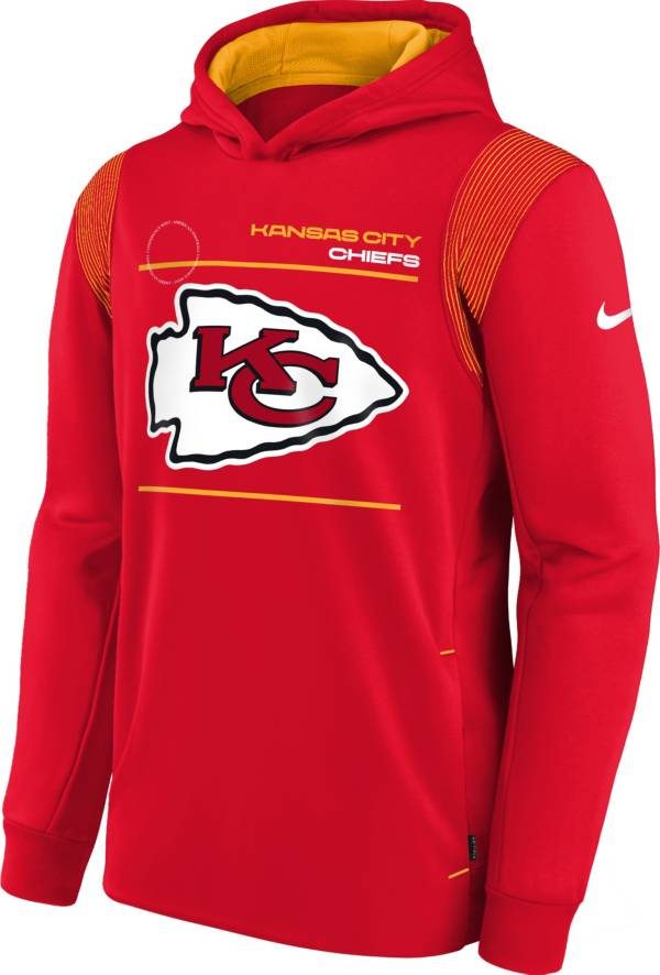 Nike Youth Kansas City Chiefs University Red Therma Pullover Hoodie product image