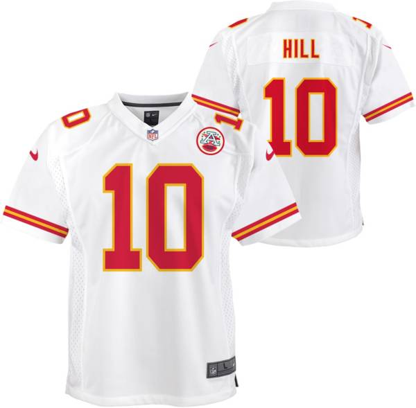 Nike Youth Kansas City Chiefs Tyreek Hill #10 White Game Jersey product image