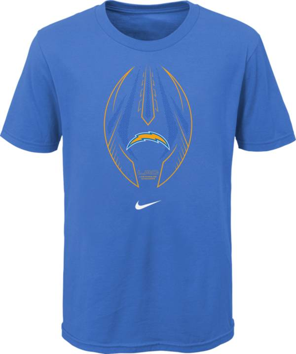 Nike Youth Los Angeles Chargers Icon Blue T-Shirt product image