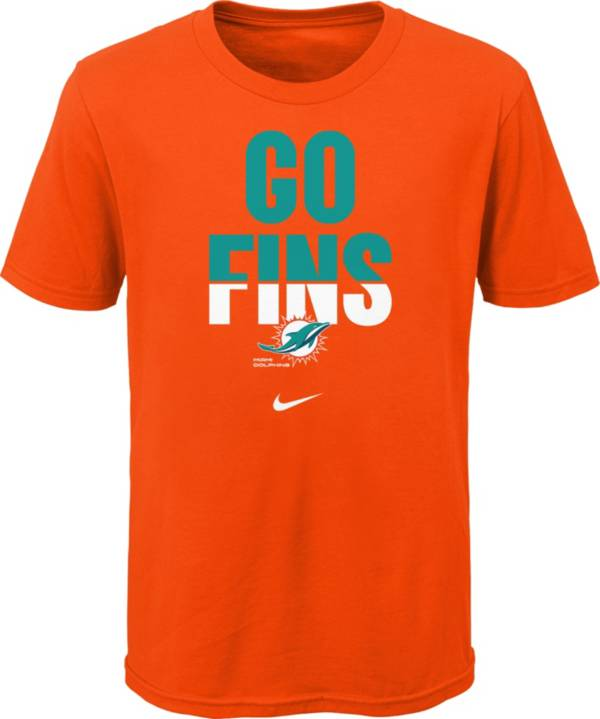 Nike Youth Miami Dolphins Local Split Orange T-Shirt product image