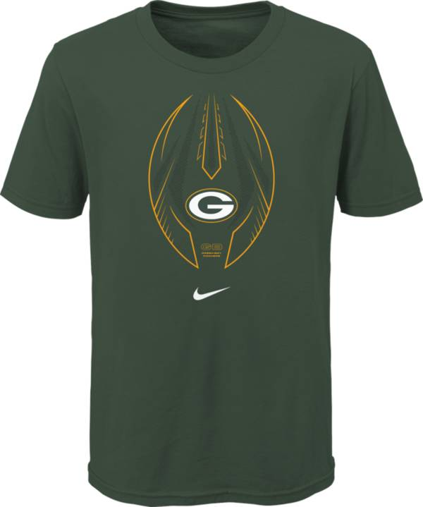 Nike Youth Green Bay Packers Icon Green T-Shirt product image