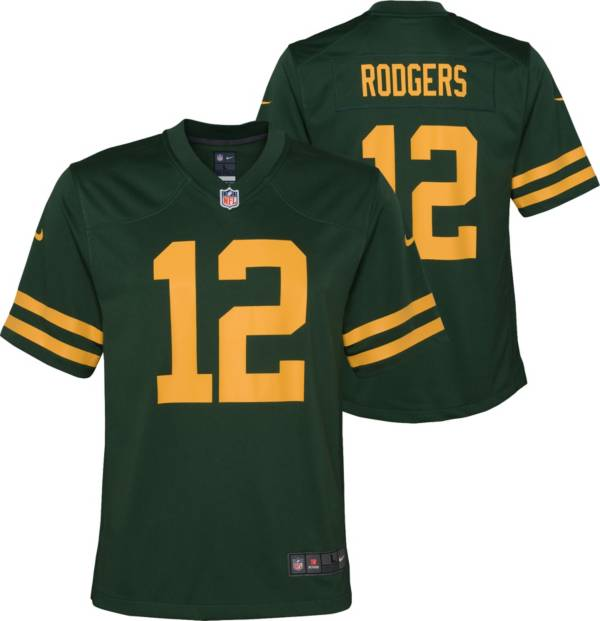 Nike Youth Green Bay Packers Aaron Rodgers #12 Alternate Game Green Jersey product image