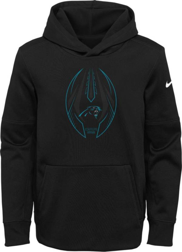 Nike Youth Carolina Panthers Black Icon Therma Pullover Hoodie product image