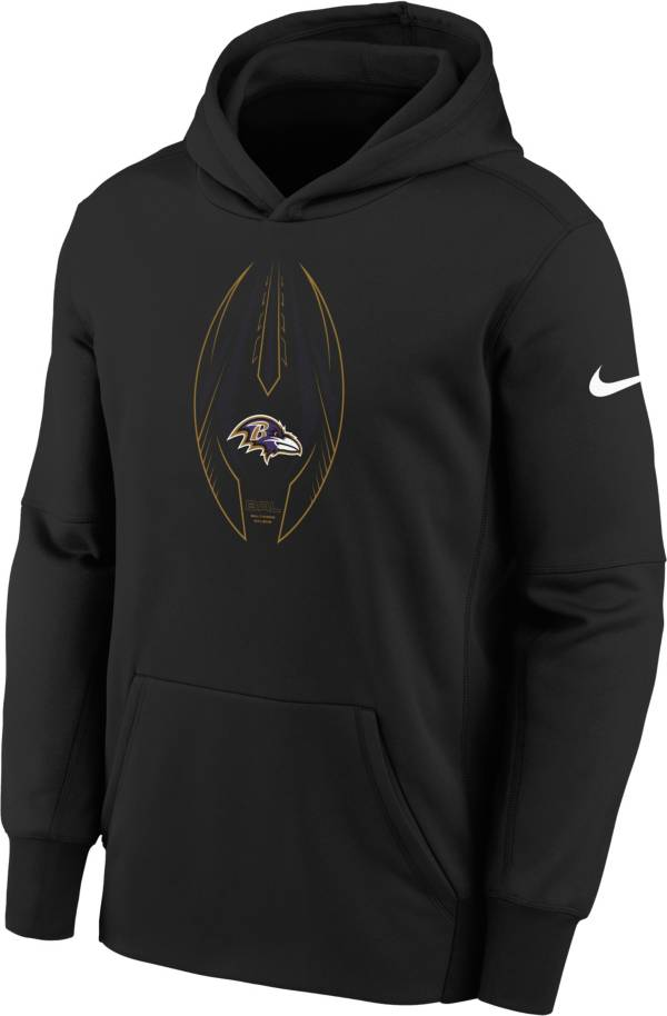 Nike Youth Baltimore Ravens Black Icon Therma Pullover Hoodie product image