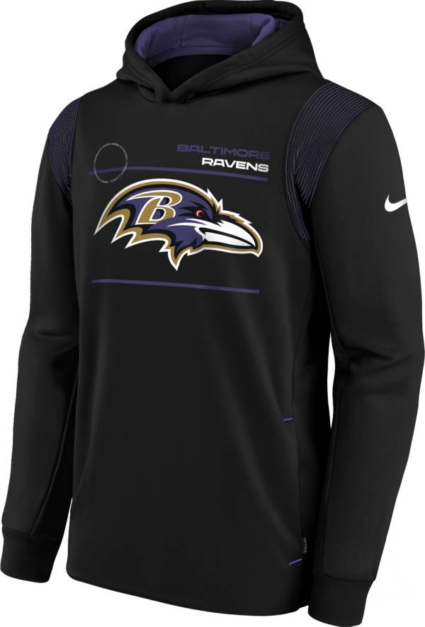 Nike Youth Baltimore Ravens Black Therma Pullover Hoodie product image
