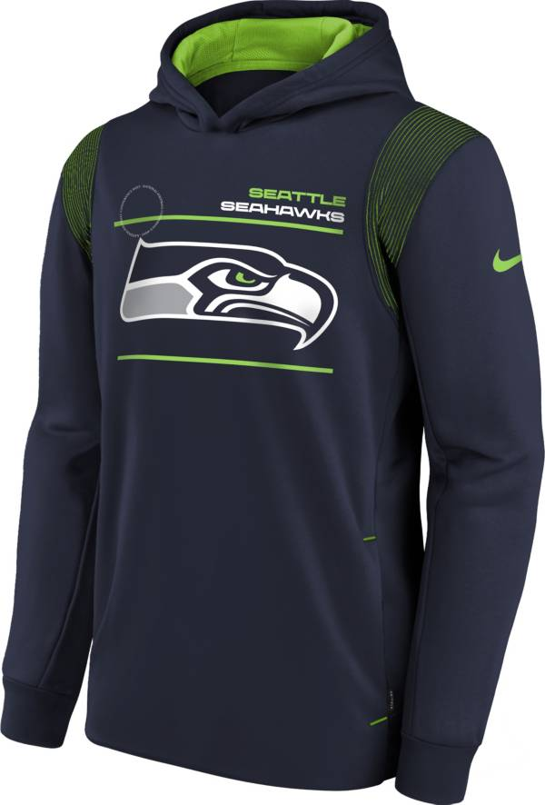 Nike Youth Seattle Seahawks College Navy Therma Pullover Hoodie product image