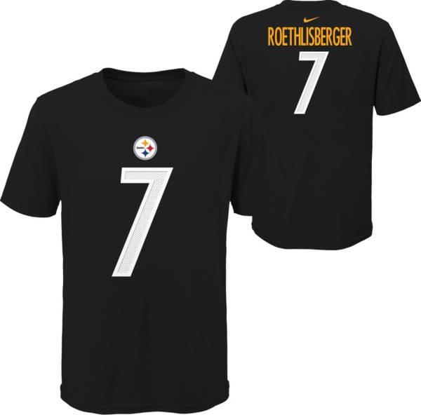 Nike Youth Pittsburgh Steelers Ben Roethlisberger #7 Black T-Shirt product image