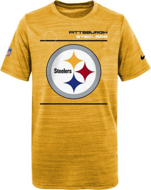 Nike Youth Pittsburgh Steelers Sideline Legend Velocity Gold T-Shirt product image