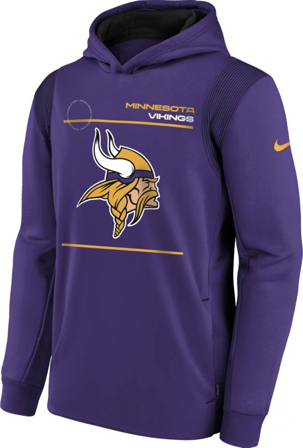 Nike Youth Minnesota Vikings Court Purple Therma Pullover Hoodie product image