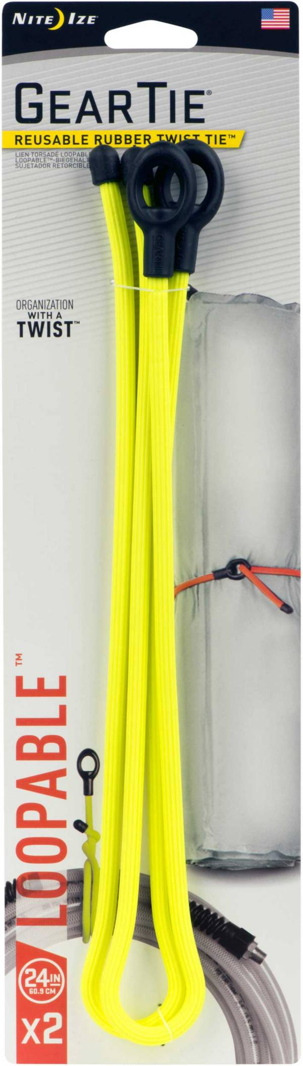 "Nite Ize Gear Tie 24"" Loopable Twist Tie – 2 Pack product image"
