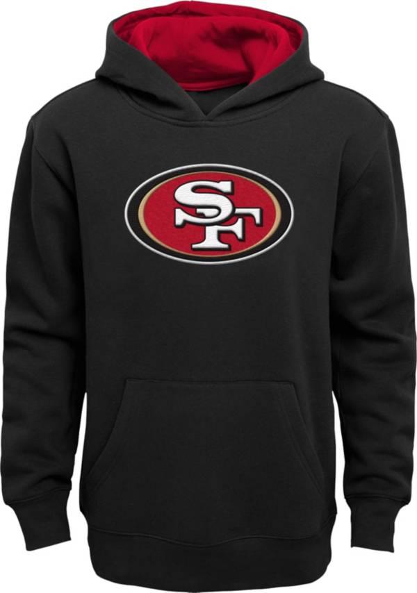NFL Team Apparel Little Boys' San Francisco 49ers Black Prime Pullover Hoodie product image