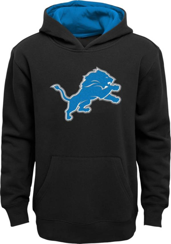 NFL Team Apparel Little Boys' Detroit Lions Heather Grey Prime Pullover Hoodie product image