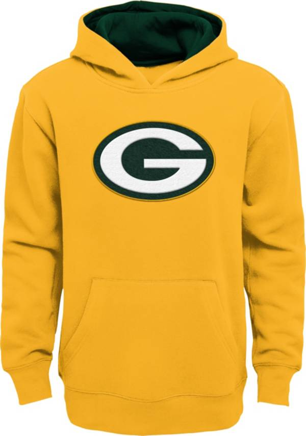 NFL Team Apparel Little Boys' Green Bay Packers Gold Prime Pullover Hoodie product image