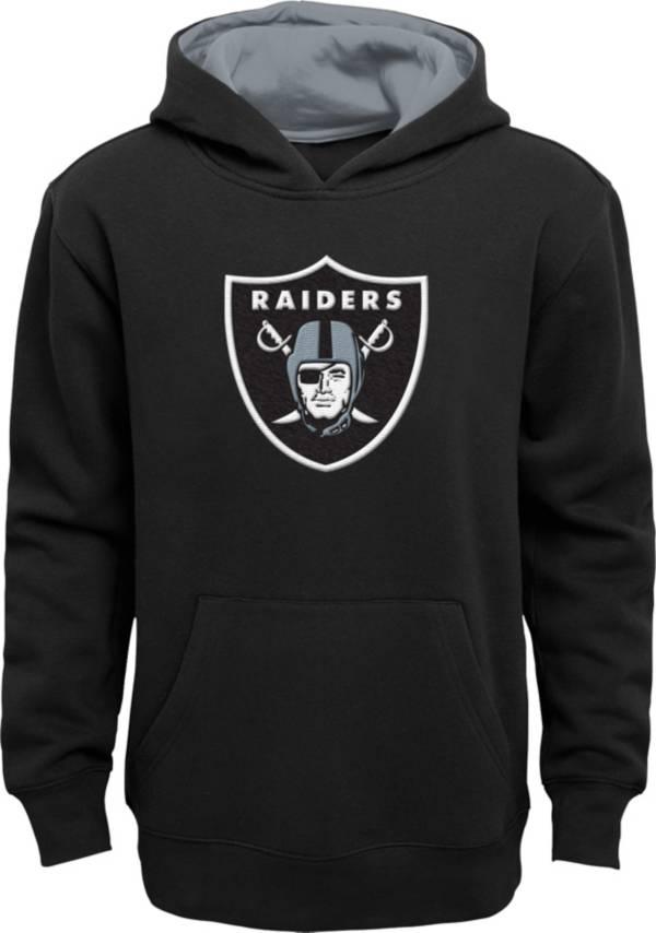 NFL Team Apparel Little Boys' Las Vegas Raiders Black Prime Pullover Hoodie product image