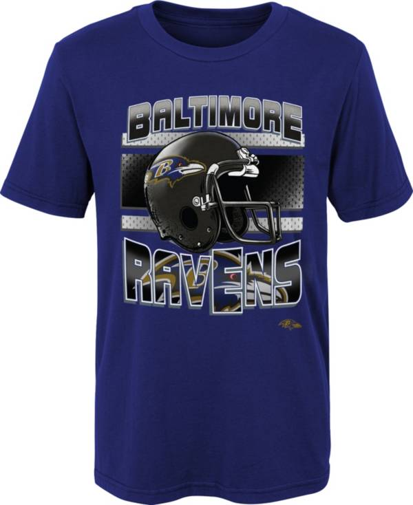 NFL Team Apparel Little Boys' Baltimore Ravens Purple Glory Days T-Shirt product image