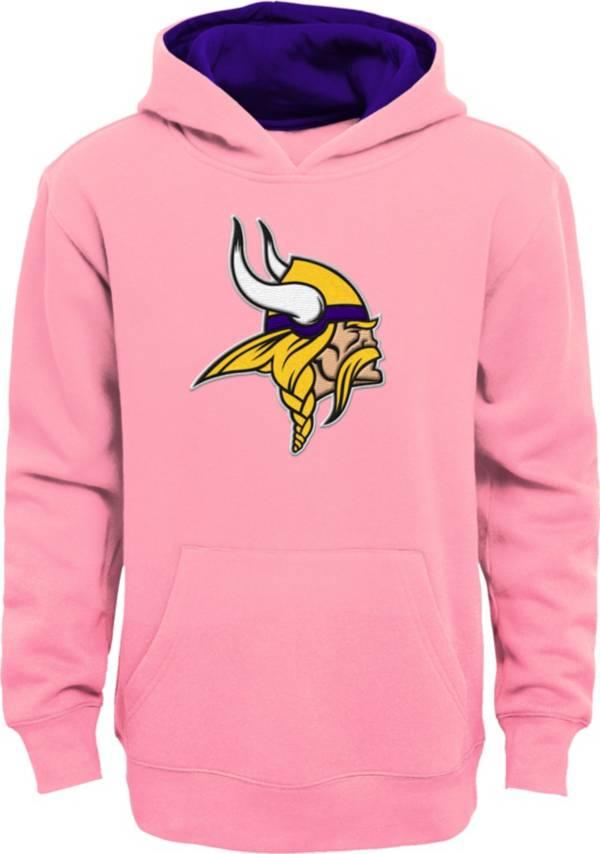 NFL Team Apparel Girls' Minnesota Vikings Prime Pink Pullover Hoodie product image