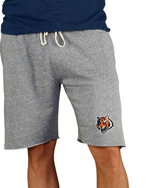 NFL Team Apparel Men's Cincinnati Bengals Grey Mainstream Terry Shorts product image