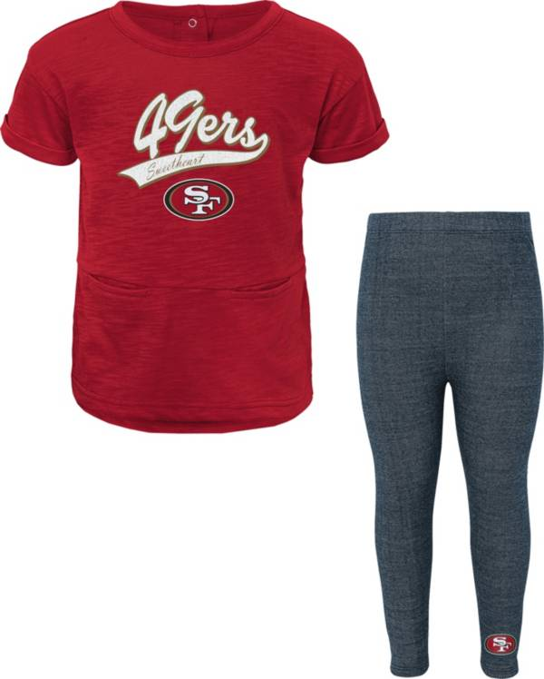 NFL Team Apparel Little Girls' San Francisco 49ers T-Shirt and Legging Set product image