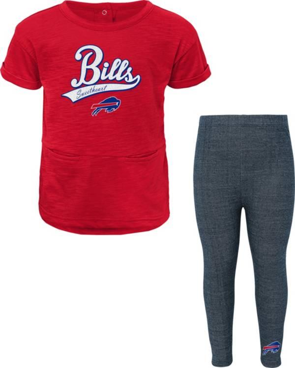 NFL Team Apparel Little Girls' Buffalo Bills T-Shirt and Legging Set product image