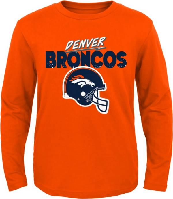 NFL Team Apparel Little Kid's Denver Broncos Orange Rad Long Sleeve T-Shirt product image