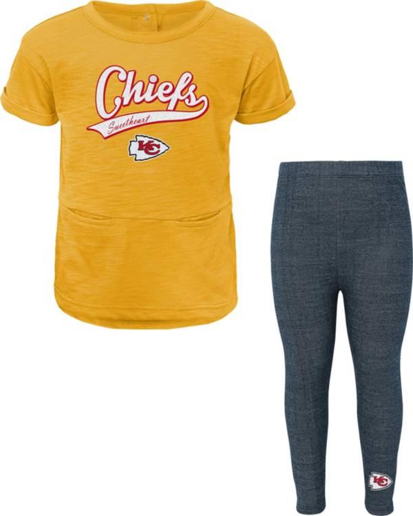 NFL Team Apparel Little Girls' Kansas City Chiefs T-Shirt and Legging Set product image