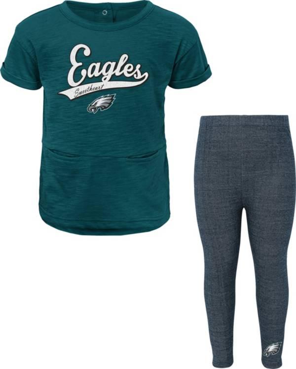 NFL Team Apparel Little Girls' Philadelphia Eagles T-Shirt and Legging Set product image