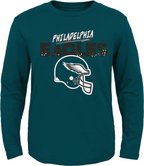 NFL Team Apparel Little Kid's Philadelphia Eagles Green Rad Long Sleeve T-Shirt product image