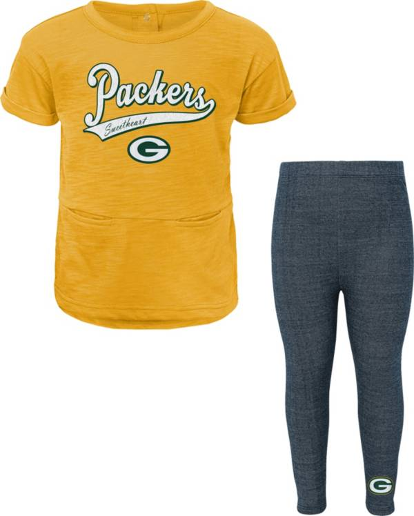 NFL Team Apparel Little Girls' Green Bay Packers T-Shirt and Legging Set product image
