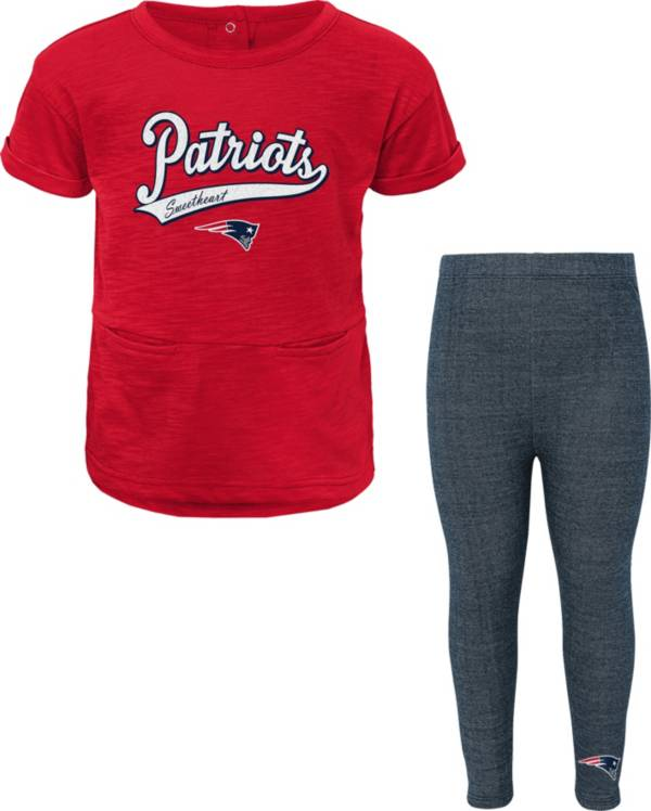 NFL Team Apparel Little Girls' New England Patriots T-Shirt and Legging Set product image