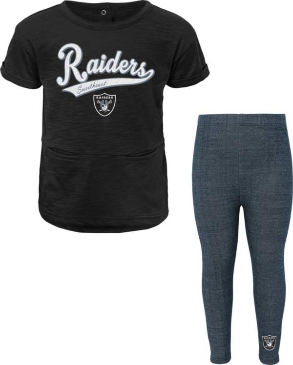 NFL Team Apparel Little Girls' Las Vegas Raiders T-Shirt and Legging Set product image