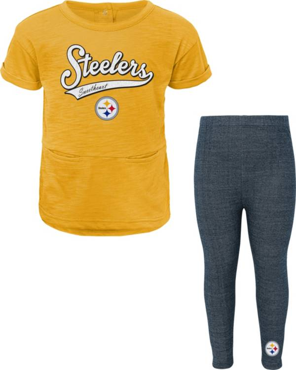NFL Team Apparel Little Girls' Pittsburgh Steelers T-Shirt and Legging Set product image