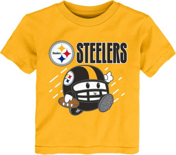 NFL Team Apparel Little Kid's Pittsburgh Steelers Gold Poki T-Shirt product image