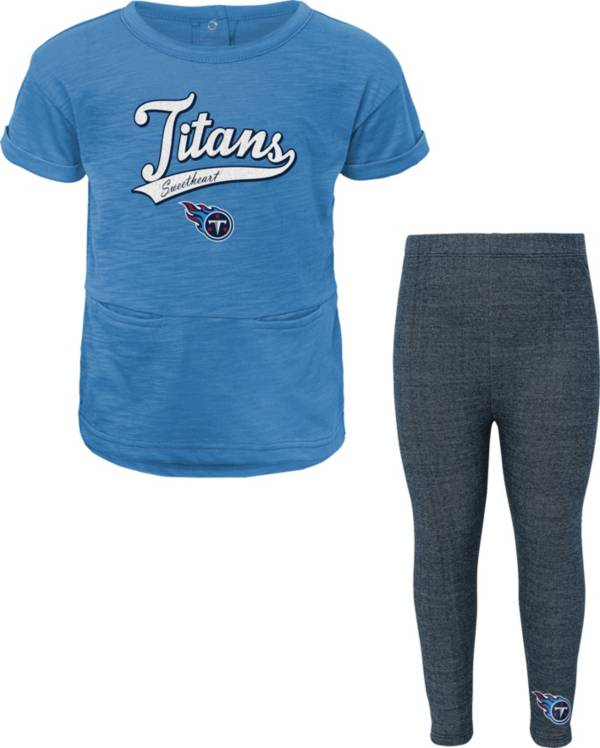 NFL Team Apparel Little Girls' Tennessee Titans T-Shirt and Legging Set product image