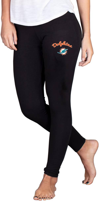 NFL Team Apparel Women's Miami Dolphins Black Fraction Leggings product image
