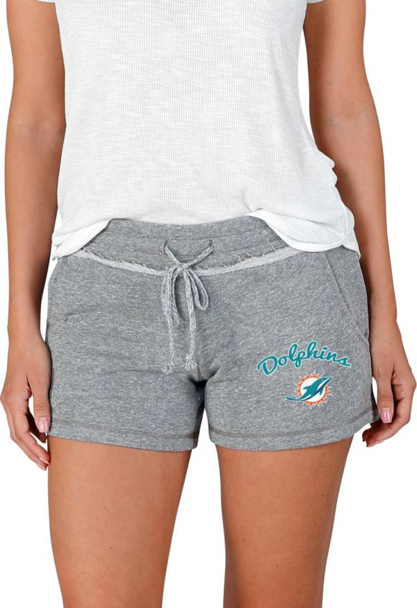 Concepts Sport Women's Miami Dolphins Mainstream Grey Shorts product image