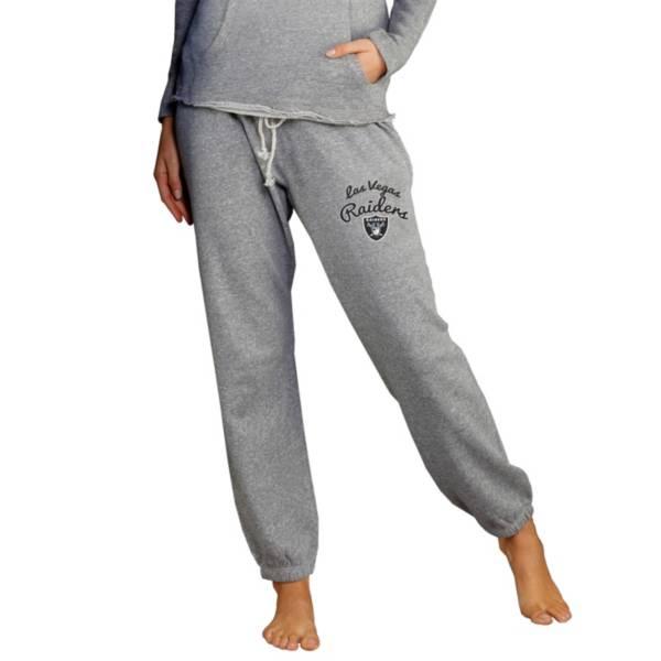 Concepts Sport Women's Las Vegas Raiders Grey Mainstream Cuffed Pants product image