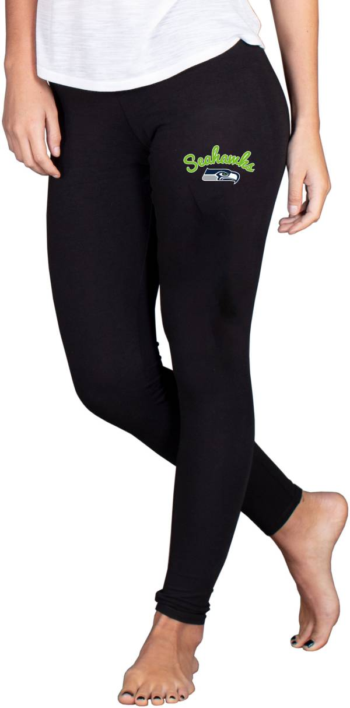 NFL Team Apparel Women's Seattle Seahawks Black Fraction Leggings product image