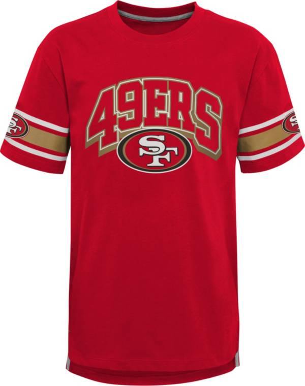 NFL Team Apparel Youth San Francisco 49ers Dark Red Victorious T-Shirt product image