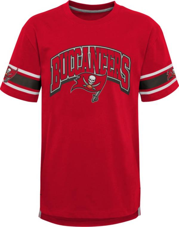 NFL Team Apparel Youth Tampa Bay Buccaneers Red Victorious T-Shirt product image